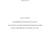 Dancoisne Baptiste - Des représentations spectaculeuses - M2 Scènes du monde, histoire, création.pdf