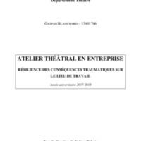 Atelier Théâtral en Entreprise - Résilience des Conséquences Traumatiques sur le Lieu de travail.pdf